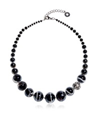 Antica Murrina Veneziana Optical 2 Black Murano Glass Choker