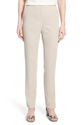 Women's Ivanka Trump Straight Leg Crepe Pants Khaki