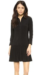 Norma Kamali Kamali Kulture Ra Ra Shirt Dress Black