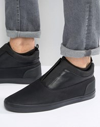 Aldo Hilawiel Leather Pull On Trainers Black
