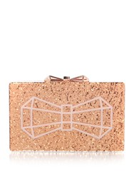 Ted Baker Rose Gold Bowwe Clutch Bag Rose Gold