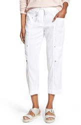 Women's Eileen Fisher Crop Cargo Pants White