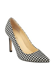 Ivanka Trump Carra Textile Pointed Toe Pumps Black White