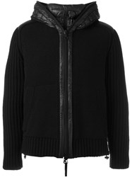 Duvetica Shell Trim Knitted Jacket Black