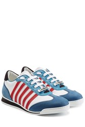 Dsquared2 New Runner Suede And Leather Sneakers Multicolor