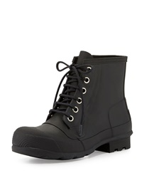 Original Rubber Lace Up Boot Black Hunter Boot