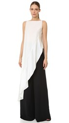 Zac Posen Sleeveless Asymmetrical Top Ivory