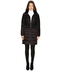 Zac Posen Juniper Puffer Trench Ebony Lace Women's Coat Black