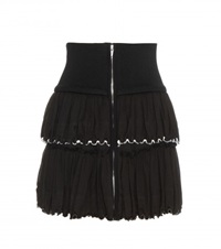 Isabel Marant Roscoe Cotton Miniskirt Black