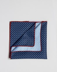 Selected Homme Pocket Square Navy
