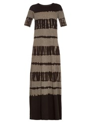 Raquel Allegra Tie Dye Jersey Maxi Dress