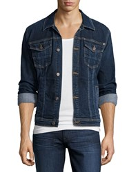 7 For All Mankind Luxe Performance Trucker Denim Jacket Blue