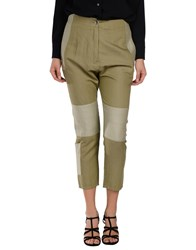 Maison Martin Margiela Mm6 By Maison Margiela Denim Denim Trousers Women Military Green