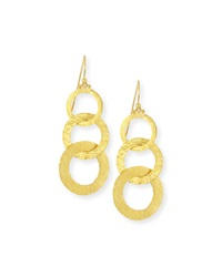 Hoopla 24K Gold Triple Drop Infinity Earrings Gurhan