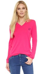 Mcq By Alexander Mcqueen Swallow V Neck Pullover Iconic Pink