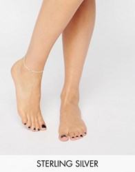 Dogeared Sterling Silver Step It Up Karma Ring Anklet Silver