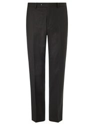 John Lewis Super 120S Wool Birdseye Tailored Suit Trousers Chocolate