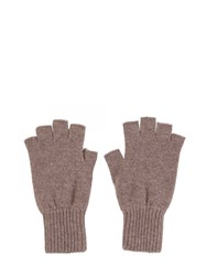 Johnstons Of Elgin Cashmere Fingerless Gloves Neutral