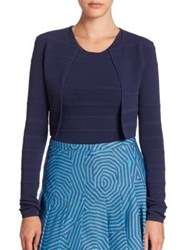 Akris Punto Textured Knit Bolero Deep Blue