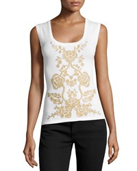 Carolina Herrera Embellished Scoop Neck Tank Women's