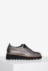 Shellys London Jack Glitter Oxford Shoe Silver
