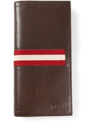 Bally Fold Over Wallet Brown