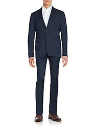 Burberry Striped Jacket And Pants Set Navy