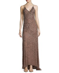 Jason Wu Embellished Halter Neck Gown Tobacco Black