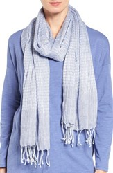 Eileen Fisher Women's Airy Linen Blend Scarf Periwinkle