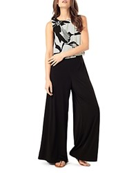 Phase Eight Lara Popover Jersey Jumpsuit Black