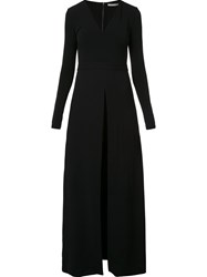 Alice Olivia Front Slit Long Dress Black