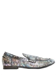 Strategia 10Mm Python Printed Leather Loafers