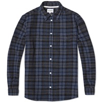 Norse Projects Anton Loose Weave Gauze Shirt Navy