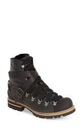 Women's Free People 'Breakwater' Hiking Boot With Genuine Goat Fur Lining Black Leather