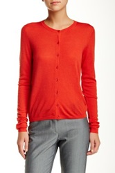 Hugo Boss Virgin Wool Cardigan Red