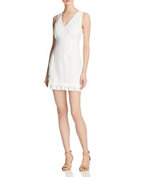 French Connection Summer Cage Lace Dress Summer White