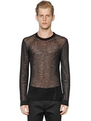 Calvin Klein Collection Sheer Wool And Viscose Blend Sweater