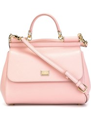 Dolce And Gabbana Medium 'Sicily' Tote Pink And Purple