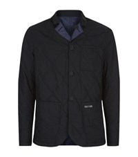 Burberry Brit Reversible Military Quilt Blazer Male