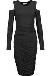 Bailey 44 Cutout Ruched Stretch Jersey Dress Black