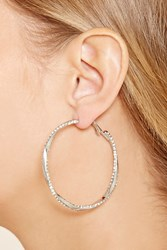 Forever 21 Rhinestone Twist Hoop Earrings