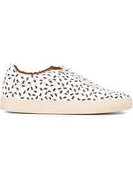 Paul Smith Ants Print Low Top Sneakers White