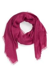 Nordstrom Women's Cashmere And Silk Wrap Burgundy Beauty