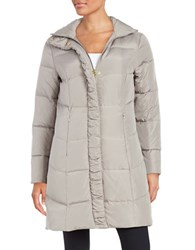 Ellen Tracy Quilted Faux Fur Lined Jacket Bronze