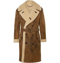 Ralph Lauren Purple Label Arbury Shearling Coat Brown