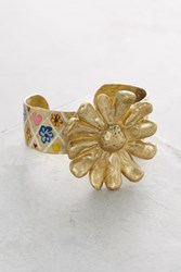Anthropologie Daisy Cuff Gold