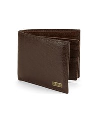 Fossil Omega Passcase Leather Wallet Brown