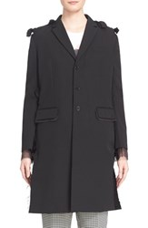 Women's Undercover Bow Tie Wool And Cotton Coat