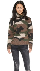 Nlst Camouflage Hand Knit Sweater