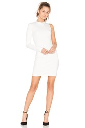 Twenty Stretch One Sleeve Dress White